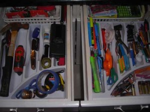 drawer after organizing