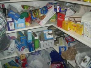 messy pantry