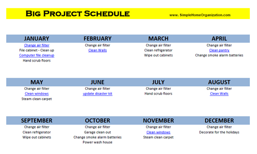 Big Project Schedule