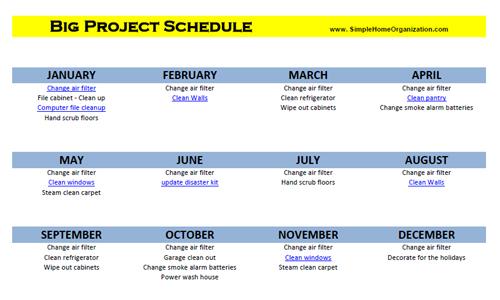 Big Project Schedule