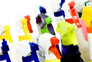 safely store cleaning supplies