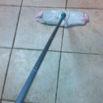 mopping with socks